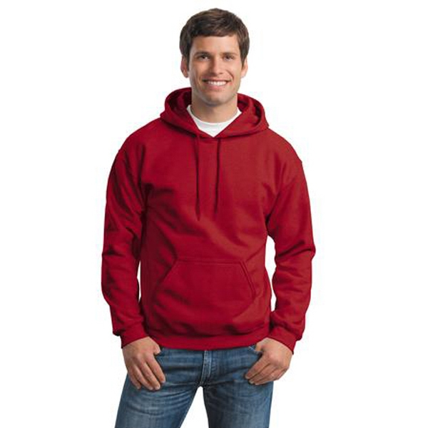 Gildan (r) - 2 X L Heathers - Cotton/polyester Hooded Sweat Shirt With Matching Drawstring, Pouch Pocket Photo