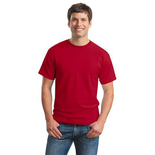 Gildan (r) Ultra Cotton (r) - S -  X L Colors - Adult Size 6 Oz. Cotton Jersey T-shirt With Seamless Double Needle Collar Photo