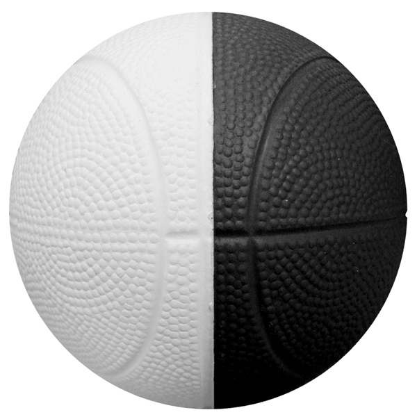 "4"" Two-Toned Foam Basketball (Full color Process)"