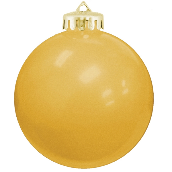 "3 1/4"" USA Made Round Shatterproof Ornament - USA Made Round Shatterproof Ornament, 3 1/4""; glossy finish."