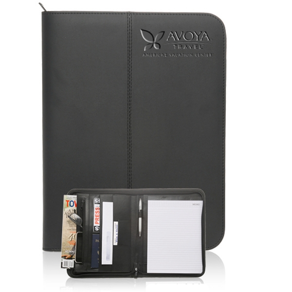 13.25 in. x 10 in. Black Stitched Portfolios