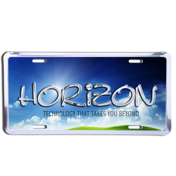 Custom Embossed Deluxe Auto License Plate With 4 Color Process Imprint Photo