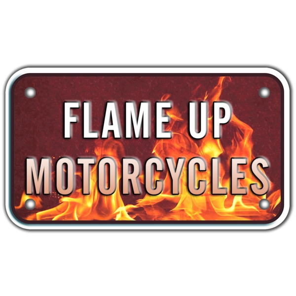 Embossed Motorcycle Plate With 4 Color Process Imprint Photo