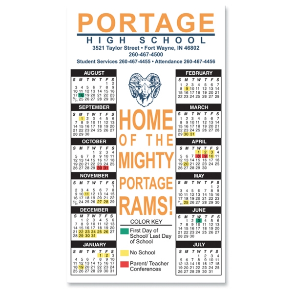 "Magnet 20 Mil - Calendar Rectangle. Digital Four Color Process Print; Size 4 X 7"" Photo"