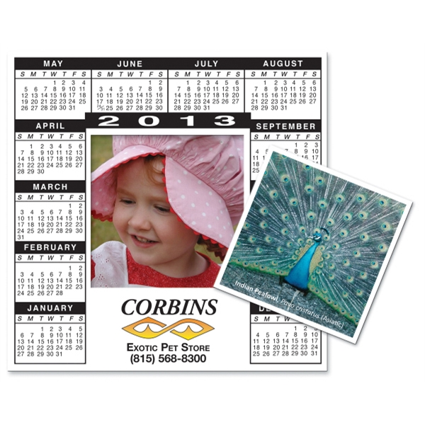 "Magnet 20 Mil - Calendar Rectangle. Digital Four Color Process Print; Size 6 X 6"" Photo"
