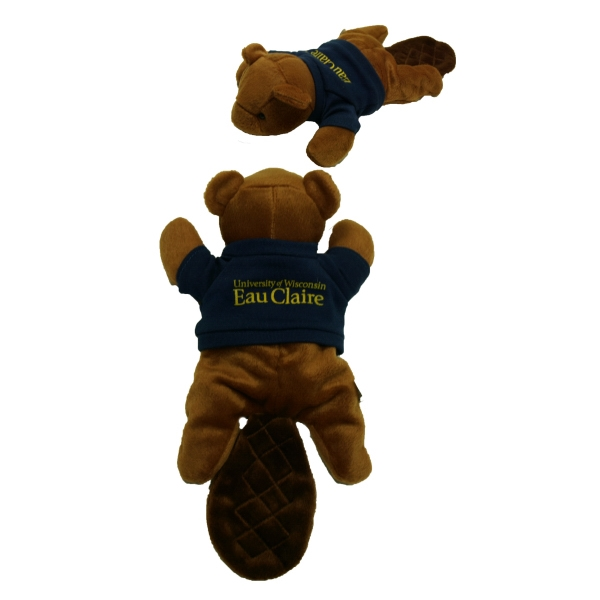 "8"" Beaver with t-shirt one color imprint"