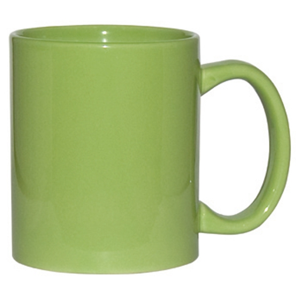 Lime Green - 11 Oz. Ceramic C-handle Mug Photo