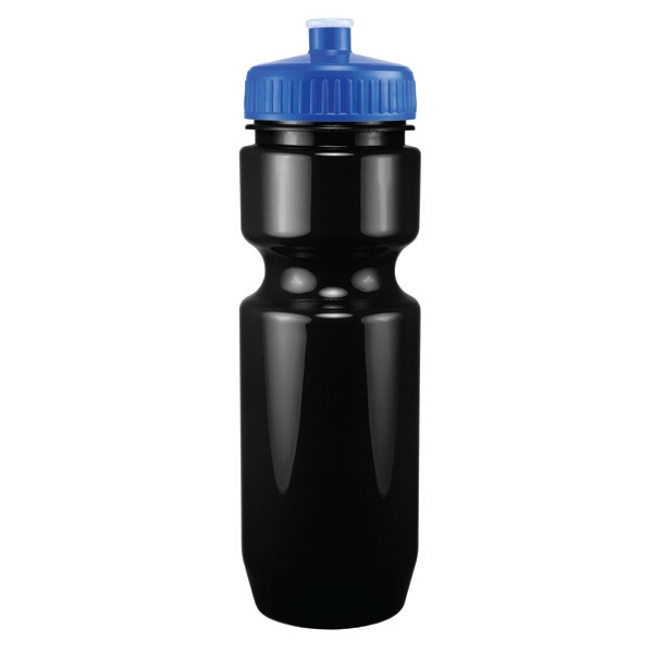 Madison - Blue - 26 Oz. Black Pet Sports Bottle Photo