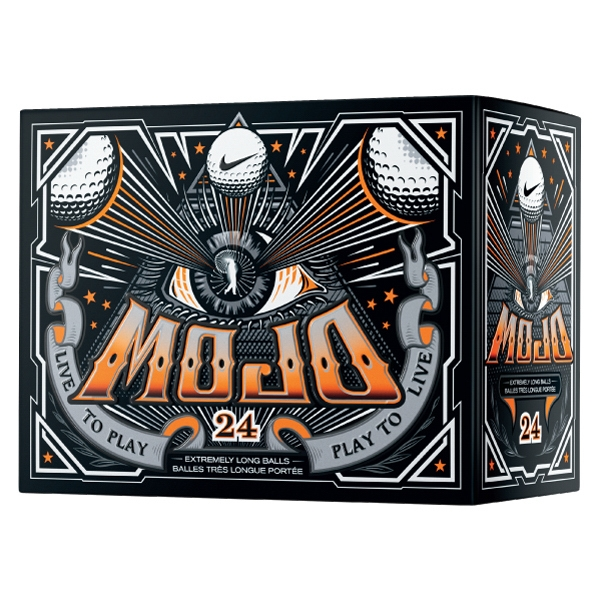 Nike (r) Mojo - Catalog 3 Day Production - Two-piece Low Compression Construction Golf Balls Sold In Double Dozen Photo