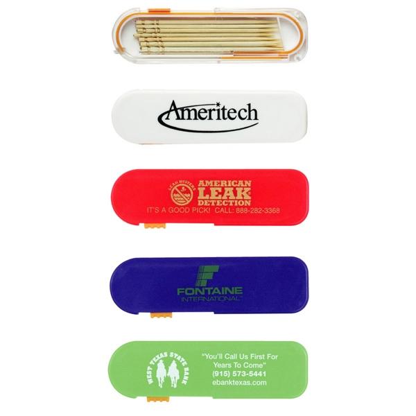 Summer Sale - Toothpick Dispenser - Toothpick dispenser with thumb slide mechanism.