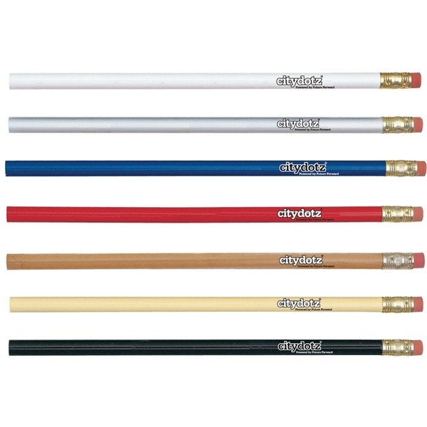 Tennessee Special - Sale 5-7 Day Production - Round Pencil With Brass Ferrule And High Density Eraser Photo
