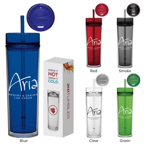 16 oz Tube Tumbler Hot and Cold Gift Set