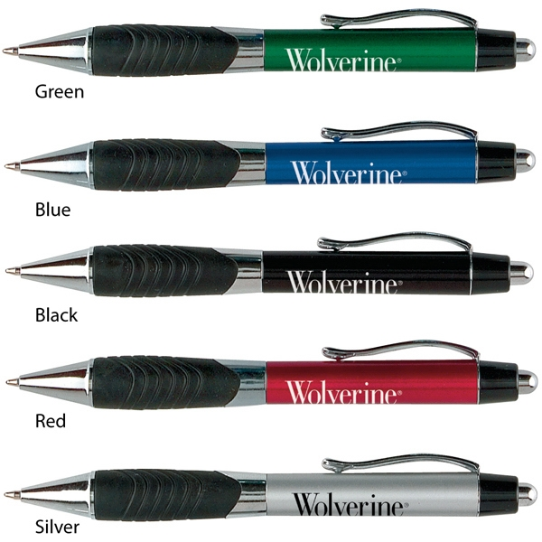 Wolverine - Catalog 5-7 Day Production - Ballpoint Pen With Classic Metallic-tone Plastic Barrel And Metal Clip Photo