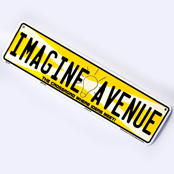 "Mini Street Sign (4"" X 15"") Photo"