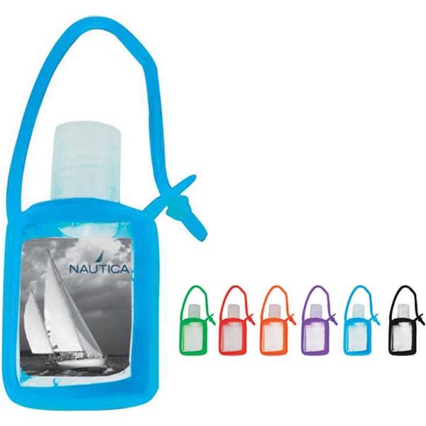 .5 oz hand sanitizer gel in silicone keychain case