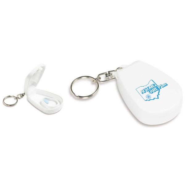 White Pill Cutter With Key Ring Photo