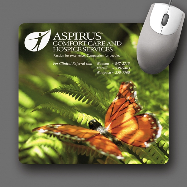 "Softtouch (r) - 7.5""x8""x1/16""-antimicrobial Plush Fabric Mouse Pad-5-day; Rush: 24 Hour,1,2,or 3-day Photo"