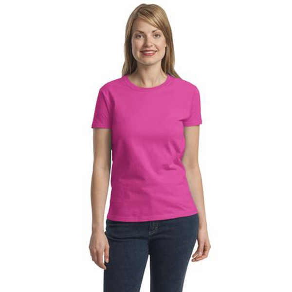 Ultra Cotton (r) Gildan (r) - 3 X L Heathers - Ladies' Size 6.1 Oz. Cotton T-shirt With Feminine Styling Photo