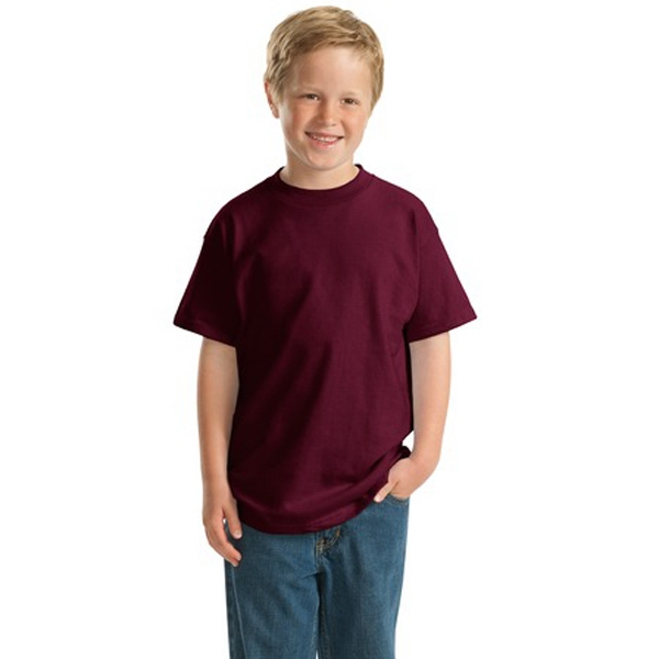 Hanes (r) Beefy-t (r) - Heathers - Youth Size 6.1 Oz. Ring Spun Cotton T-shirt Photo