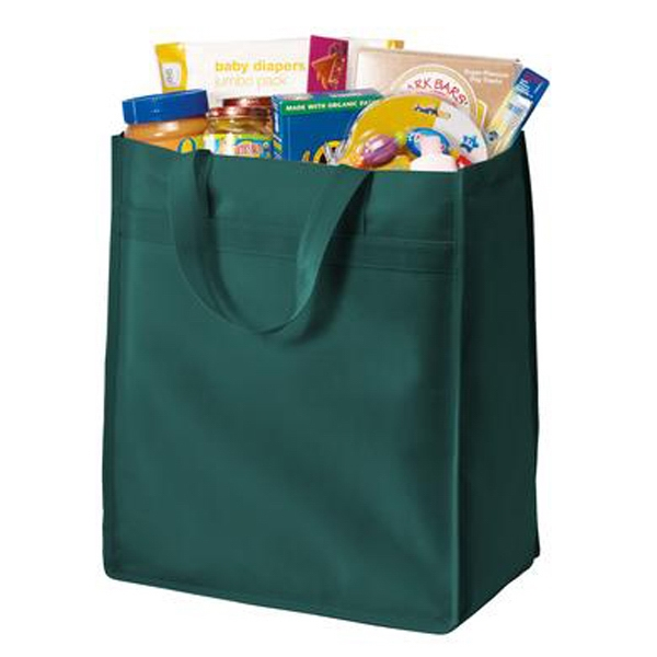 Port Authority (r) - Simple Polypropylene Grocery Tote Features A Square Bottom To Sit Upright Photo