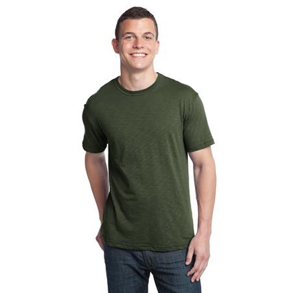 District (r) -  X S -  X L All Colors - 100% Slub Cotton Jersey Men's Crewneck T-shirt Photo
