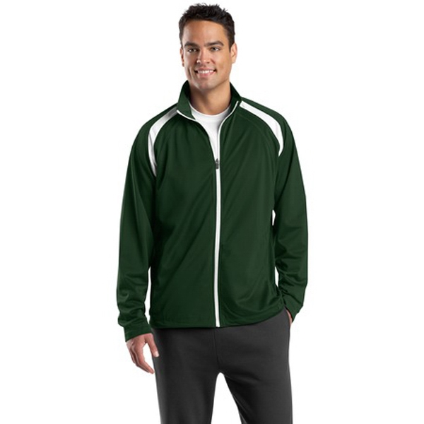 Sport-tek (r) - 3 X L Colors - Tricot Track Jacket, 100% Polyester Tricot With Soft Brushed Backing Photo