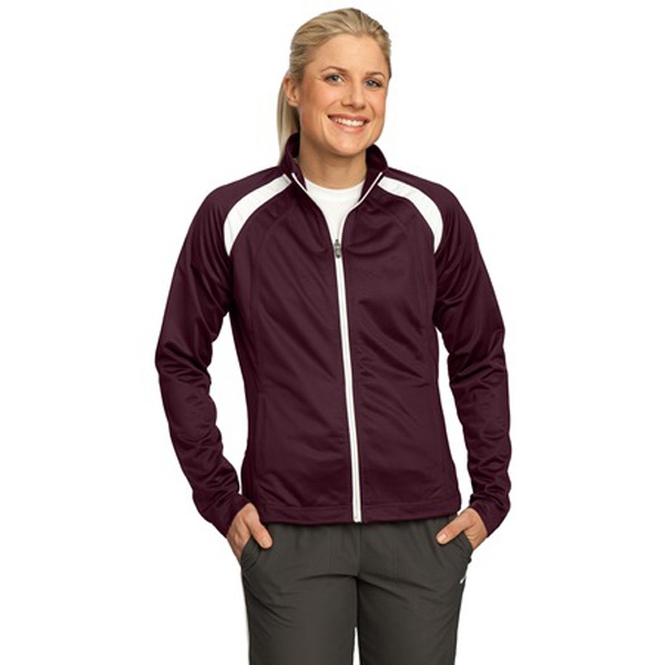Sport-tek (r) - 3 X L Colors - Ladies' Track Jacket, 100% Polyester Tricot With Soft Brushed Backing Photo