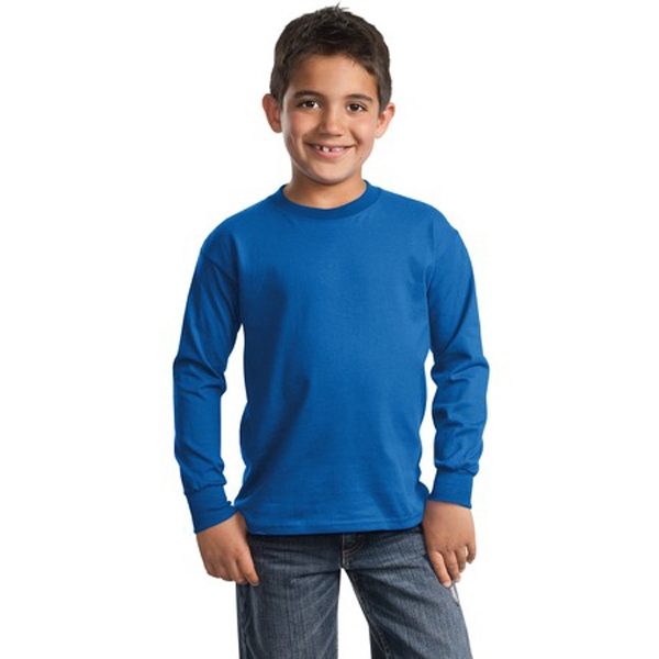 Port And Company (r) Essential - Lights - Youth Long Sleeve T-shirt, Heavyweight 6.1oz 100% Cotton Photo