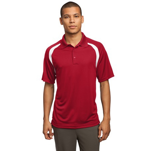 Sport-tek (r) -  X S -  X L Colors - Colorblock Raglan Polo Shirt, 3.8 Ounce, 100% Polyester Photo