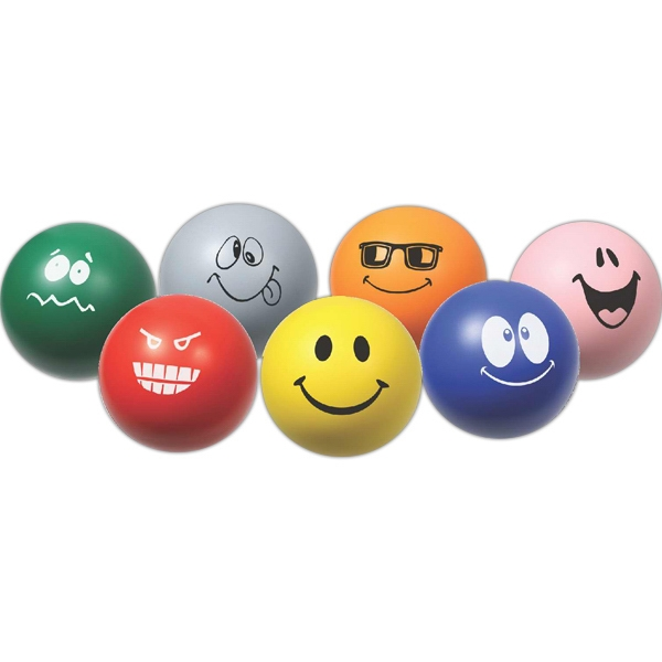 Emoticon - Round Ball With Stock Face Photo
