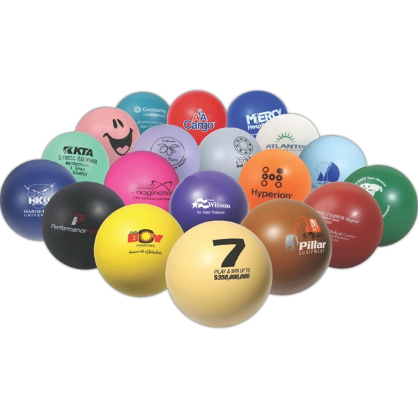 "2 3/4"" Diameter Ball Shape Stress Reliever Photo"