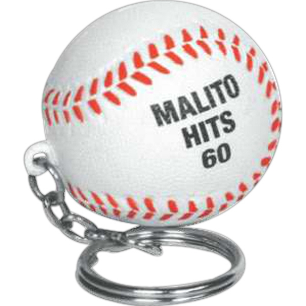 Baseball Shape Stress Reliever Key Chain Photo