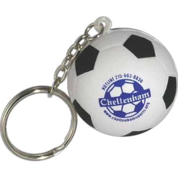 Soccer Ball - Sports Ball Shape Stress Reliever With Key Chain Photo