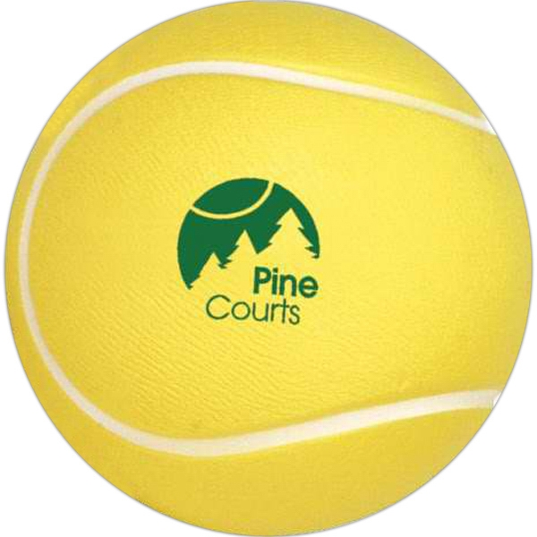 "Tennis Ball - 2 1/2"" Diameter, Sports Ball Shape Stress Reliever Photo"