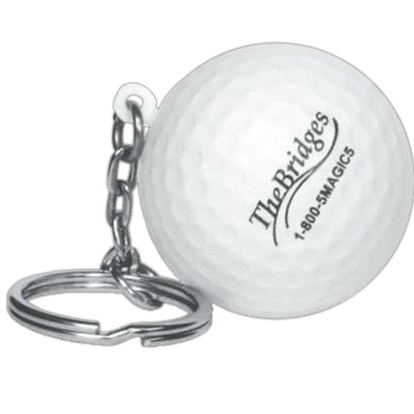 Golf Ball - Sports Ball Shape Stress Reliever With Key Chain Photo
