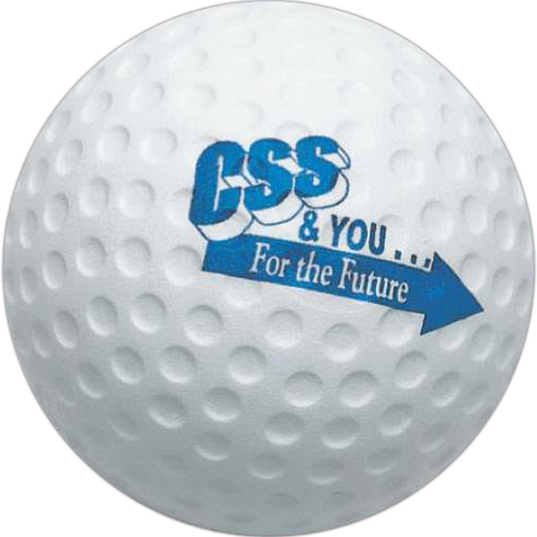 "Golf Ball - Sports Ball Stress Reliever, 2 1/2"" Diameter Photo"