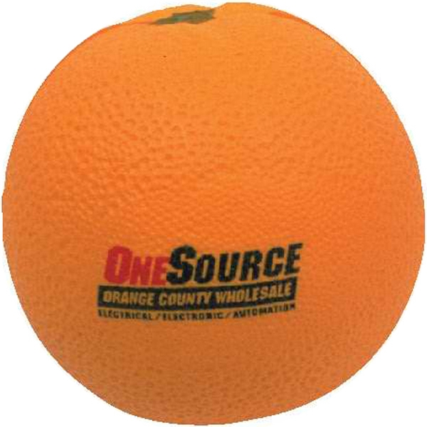 Polyurethane Orange Stress Reliever Photo