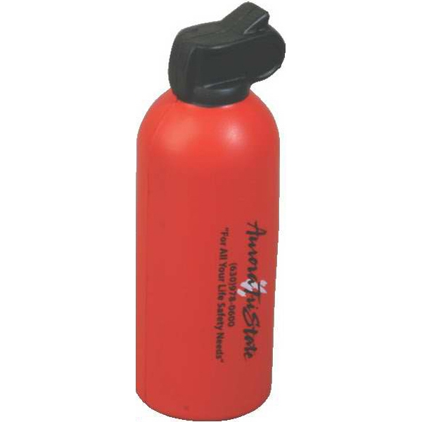 "Fire Extinguisher Shape Stress Reliever, Size 1 1/2"" Diameter X 4 2/3"" Photo"