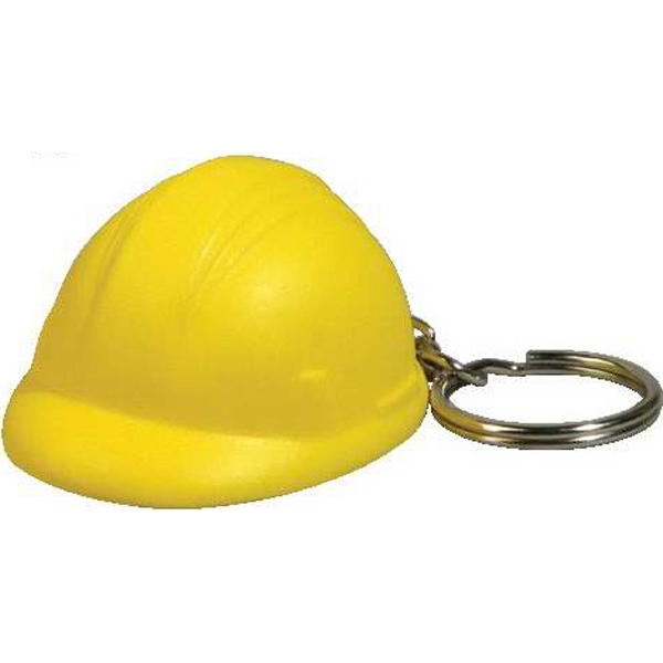 Hard Hat Stress Reliever With Key Chain Photo