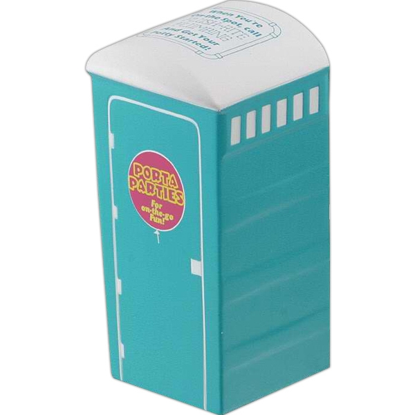 "Porta-potty Shape Stress Reliever, 2"" X 2"" X 4"" Photo"
