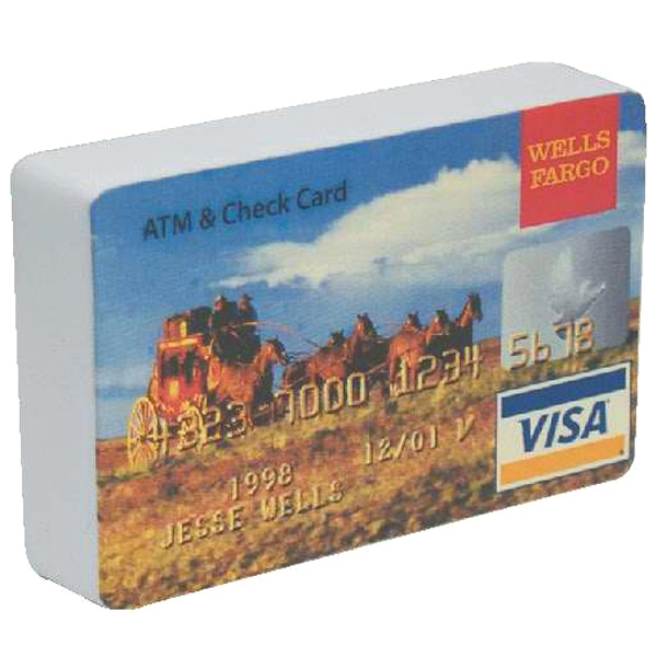 Credit Card Shape Stress Reliever Photo