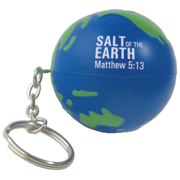 Earth Ball Stress Reliever With Key Chain Photo