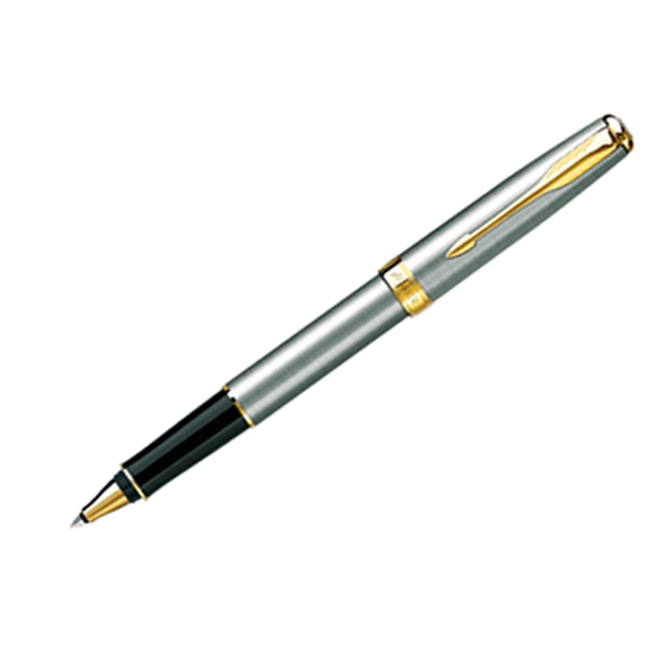 Sonnet (r) - 23-k Gold Plate - Stainless Roller Ball Pen With Elegant Finish On Clip And Trim Photo