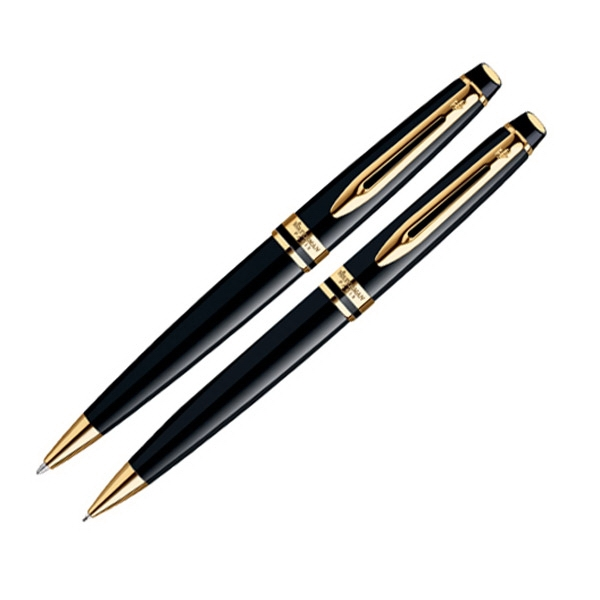 Expert - Black Lacquered Ball Pen/pencil Set Photo
