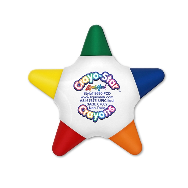 Five Color Star Crayon - Full Color Decal