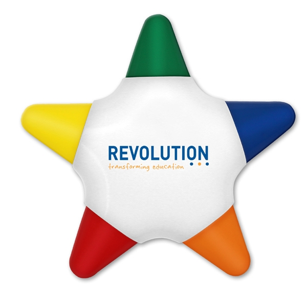 Crayo-star - Direct Imprint - Five Color Star Shaped Crayon Photo