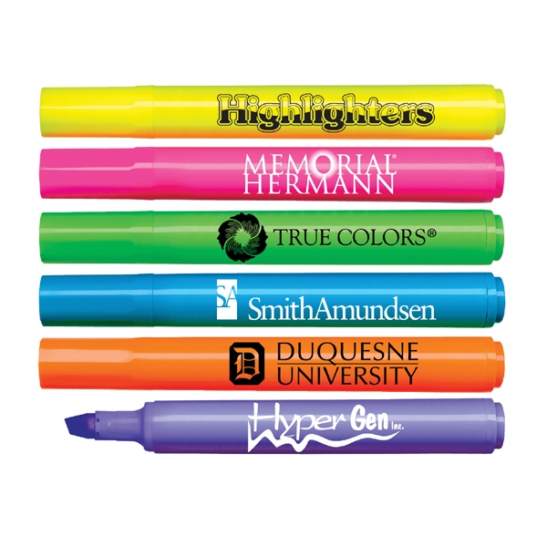 Brite Spots (r) - Direct Imprint - Fluorescent Barrel Jumbo Highlighter With Broad Chisel Tip. Made In Usa Photo