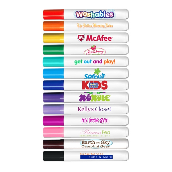 Washables - Four Color Process - Washable Marker - Conical Tip Washable Marker. Made In Usa Photo