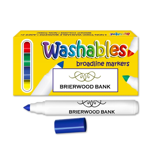 Washable Marker Set. Four Pack Washable Markers. Made In Usa Photo