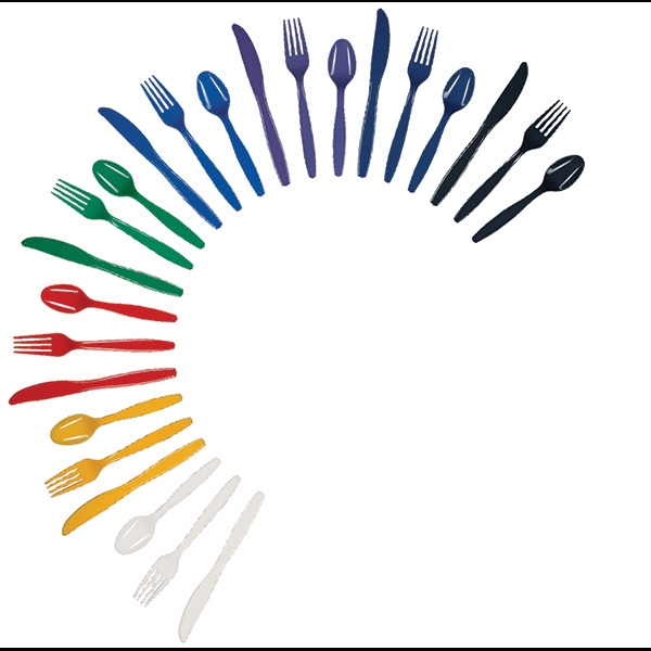Colored Plastic Spoon - Unimprinted, colored plastic spoon.